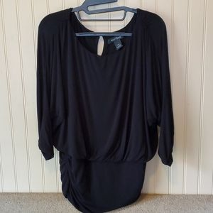 EUC White House Black Market blouse large black